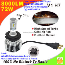 Hi Catch Awesome Bright V1 8000lm h4 pk c6 g8 7s 35W bulb h1 h3 hb4 9006 hb3 led d3s led head lights conversion h1 100w 12v led