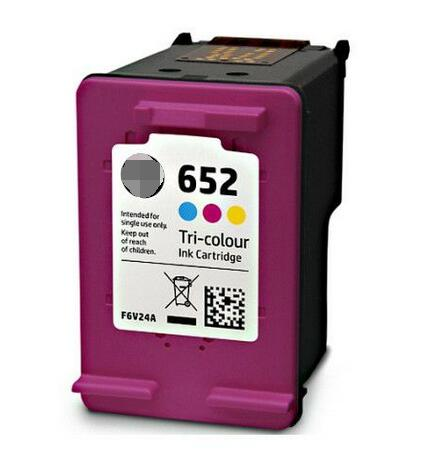 New premium best selling products refill ink cartridge F6V25A F6V24A for HP 652XL Deskjet printer ink cartridge