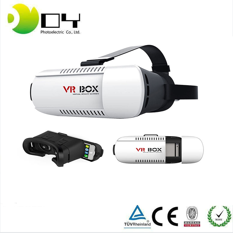 OEM VR BOX Google Cardboard Virtual Reality 3D Glasses Helmet 3D Immersive Glass vr headset <strong>Video</strong> + Bluetooth Remote Gamepad
