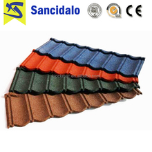 Manufacturer Supplier portuguese style stone coated steel roof tile