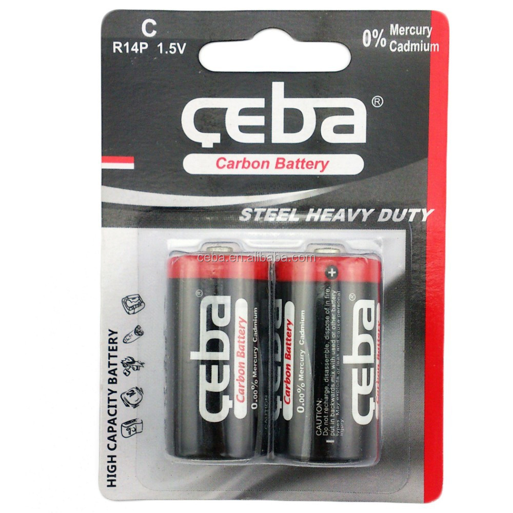 Dry Cell Battery R14 1.5V C size