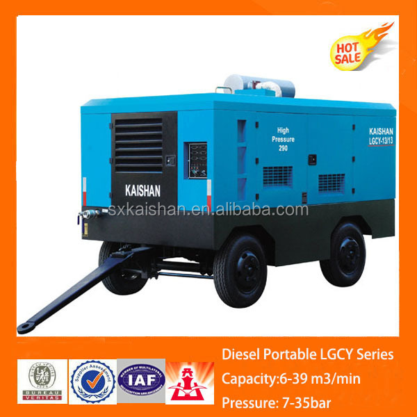 KAISHAN Brand Diesel Engine Movable air compressors for well drilling rigs