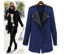 ZH0710C Women Fashion Elegant Solid Long Swing Trench Coat