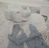 hand carved bull stone sculpture