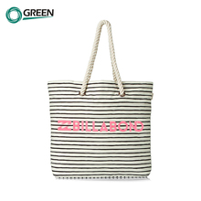 Top Quality Hydration Durable Canvas Rope Handle Beach Bag