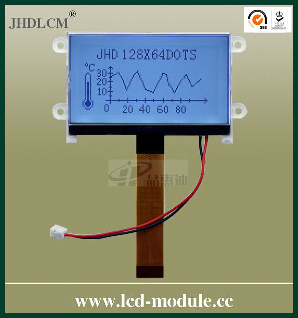 128X64 lcd module low power JHD12864-G39IBFW-BW