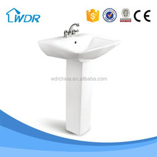 Big size ceramic high quality bathroom pedestal basin