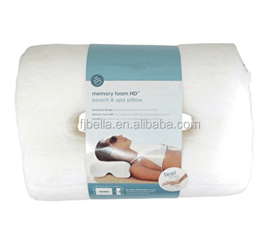 Comfort and Soft Memory Foam Beach & Spa Pillow - White