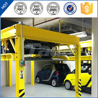 PJS Four post mini lifting car lift/used 4 post car lift for sale/parking lot solution
