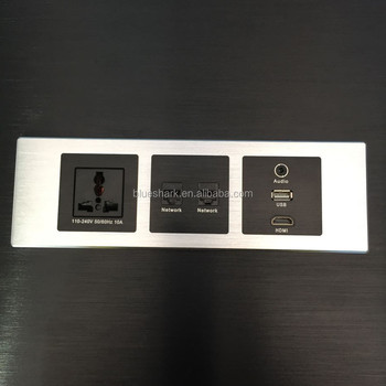 Hotel Multiple Media Panel /Aluminum USB Hub/Wall Socket Outlet