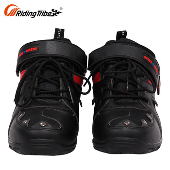 Steel Toe Short Motorbike Outdoor Boots For Motorcycle Riding Racing Boots Men