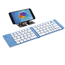 Mini Bluetooth Keyboard for Android Tablet PC and Cellphones TP-N228 Blue in Silver Aluminum