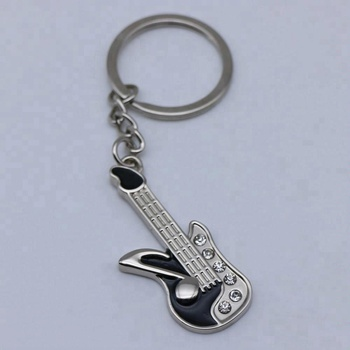 high quality cheap custom guitar pick keychain