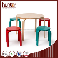 Bentwood Table and Stool