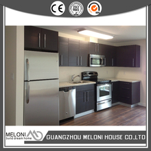modern fashionable grey wood veneer cabinet with kitchen set