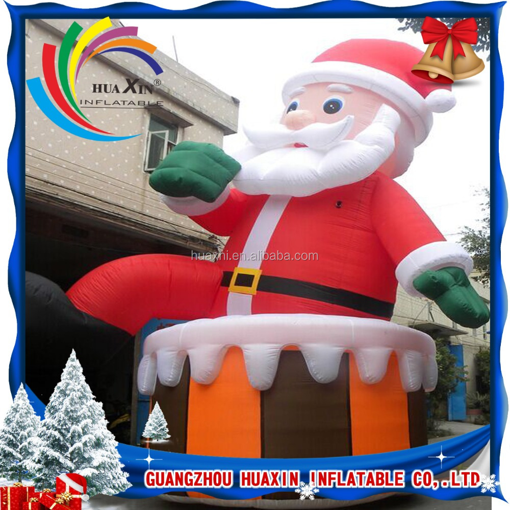 hot sale christmas customized outdoor giant inflatable father christmas for sale