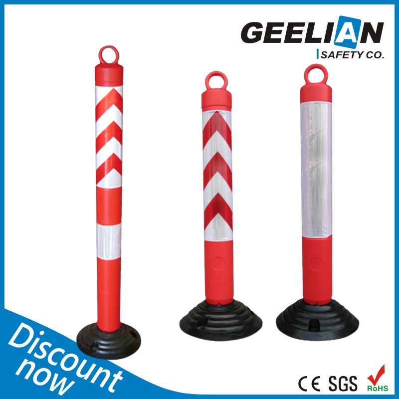 Orange Roadway High Rebound Colorful Reflective Road Marker Posts