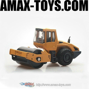dc-148213AD Mini static single road roller truck, diecast road roller