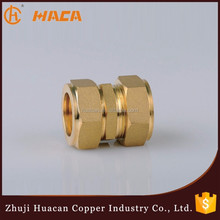 Brass/Copper Male Threaded Gas Pipe Compression Fittings Coupling