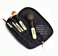 Popular bamboo handle 5pcs promotion gift makeup brush High Quality Cosmetic Brush Set
