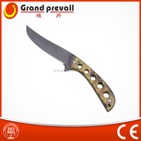 Stainless Steel Outdoor fixed blade knife with camo handle