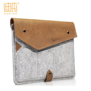 China wholesale envelop bag design felt and leather material tablet cover for ipad pro 9.7 case