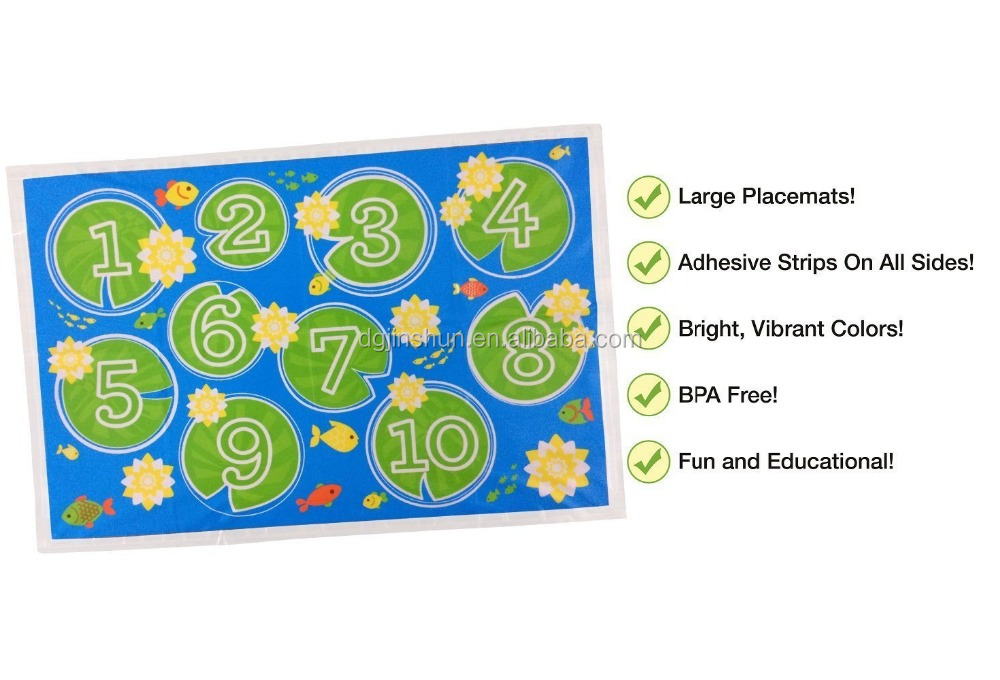 LDPE plastic sticky dinning placemats disposable baby table toppers wholesale
