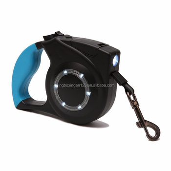 Retractable Dog Leash with LED Light, Pet Traction Rope with Nylon Rope, Hand Grip, Button to Brake & Lock Perfect for Small,Med