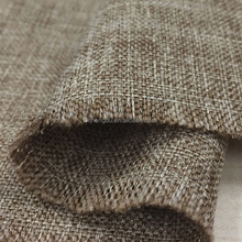 100% Polyester 600D PU coated polyester water resistant cation linen-like oxford bag fabric for sofa cushion cover