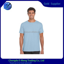 Wholesale 100 Cotton Ringspun New Style Plain Made in China T shirt in Light Blue