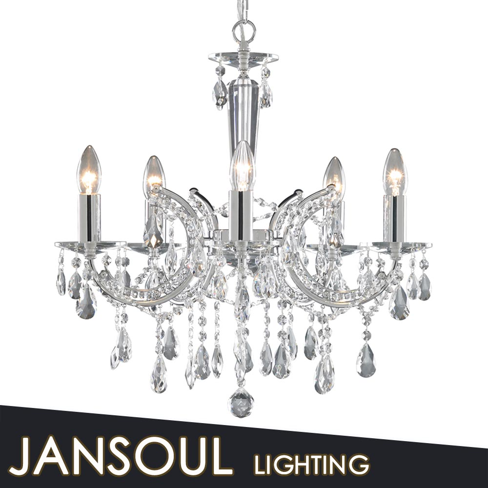 Crystal chandelier table centrepiece white chrome finish chandelier