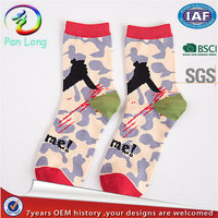 Hot sale camouflage Pirate style cotton socks for men
