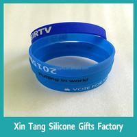 elegant wrist bands silicone rubber hot sale