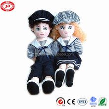 Navy couple stuffed soft cute girls toy doll