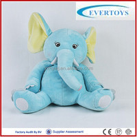 30cm high Microwaveable blue elephant plush toy with flaxseed and lavender bag relaxing and pain relief