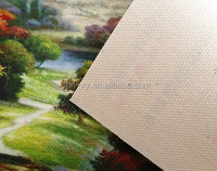 Solvent Glossy Cotton Canvas yellow back Digital printing 330gsm 16S*16S