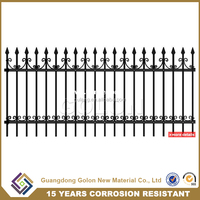 Factory cheap decorative aluminium garden fence panels, metal fence ornament for sale