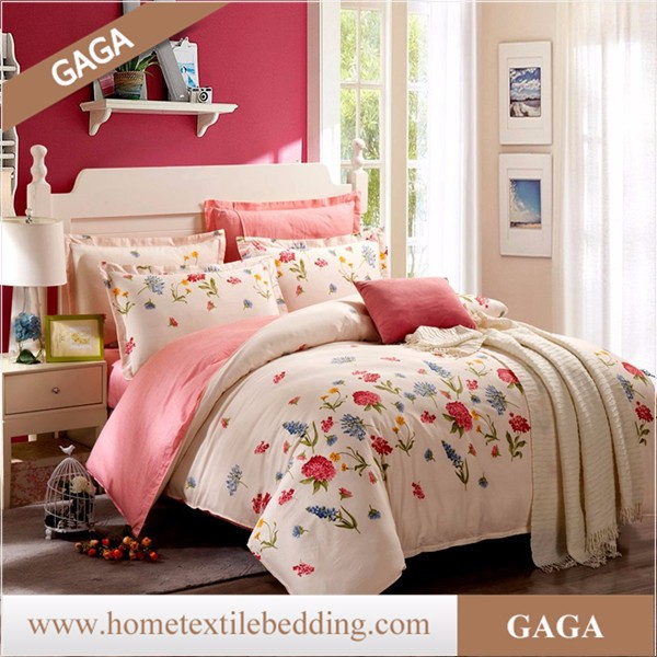 queen size butterfly comforter sets,duvet cover digital printed,pink queen comforter sets