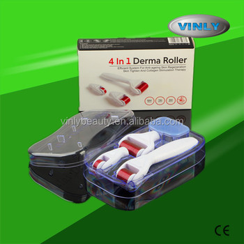 Newest design 4 in 1 microneedle derma roller system