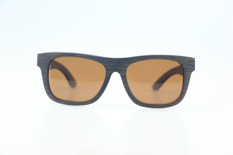 2018 Europe Gafas lentes de sol yiwu wholesale Grain Brown Bamboo Sunglasses