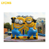 Minion inflatable playground inflatable jumping bouncy castle for kids