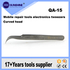 Mobile repair tools electronic tweezers Pointed curved tweezers QA-15