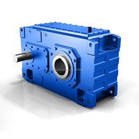 Power transmission high torque HB series reducer bevel helical drawing of gear box