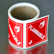 Printing vinyl warning fragile / flammable label sticker roll