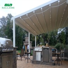 Durable aluminum pergola/retractable roof/awning