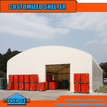 2016 New products heavy duty steel frame PE PVC dome storage tent