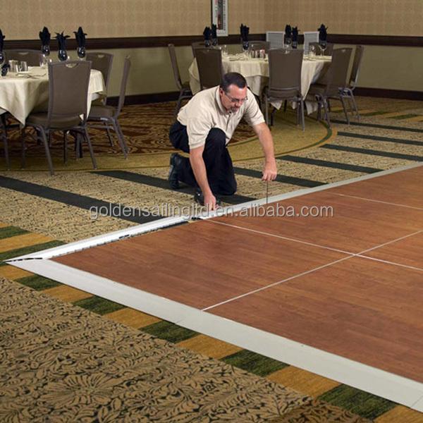Camlock Portable Dance Floor Easy Set Up Ground Flooring View - Snap lock dance floor for sale