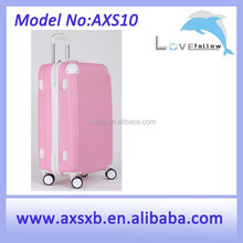 shaped ABS luggage , luggage tag with insert, personalized trolley luggage