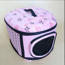 2017 new style pink foldable Pet carrier pet bag dog EVA carrier