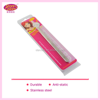 Cosmetic Slanted Eyelash Extension Tweezers / Anti Static Non Magnetic